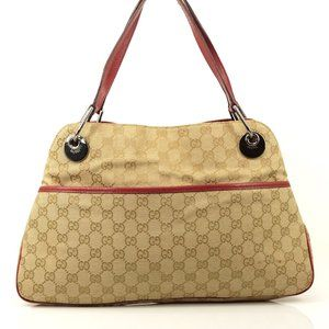 Auth Gucci Tote Bag Light Brown Canvas #2592G91